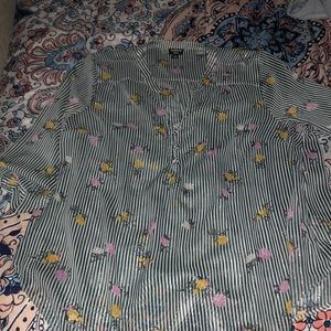 Torrid striped floral blouse size 2